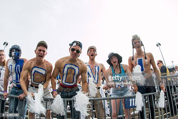 UConn Huskies fans in the stands during the first half of a NCAA football game between AAC rivals the Cincinnati Bearcats and the UConn Huskies at...