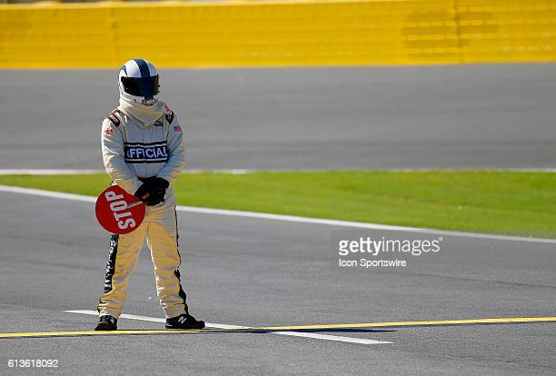 A NASCAR Official during the running of the Bank of America 500 NASCAR Sprint Cup series race at the Charlotte Motor Speedway in Concord NC