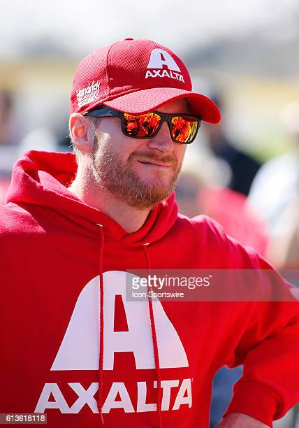 Dale Earnhardt Jr Prior to the running of the Bank of America 500 NASCAR Sprint Cup series race at the Charlotte Motor Speedway in Concord NC