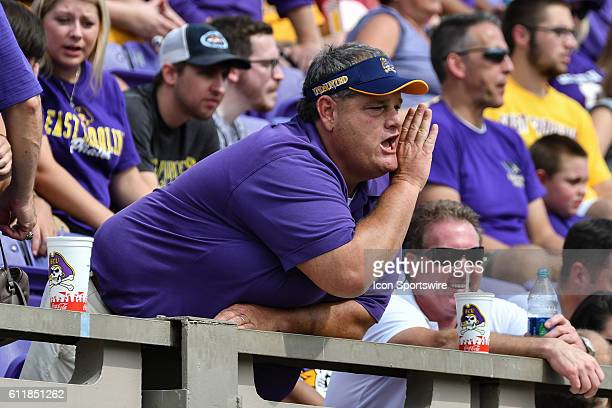 East Carolina fan in a game between the East Carolina Pirates and the Central Florida Knights at DowdyFicklen Stadium in Greenville NC Central...