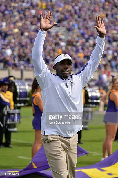 East Carolina Pirates head coach Scottie Montgomery in a game between the East Carolina Pirates and the Central Florida Knights at DowdyFicklen...