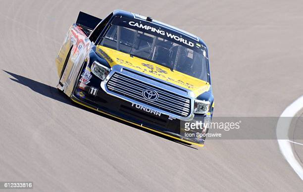 Matt Tifft Brain Gear/Surface Sunscreen Toyota Red Horse Racing on the racetrack during the NASCAR Camping World Truck Series DC Solar 350 at Las...