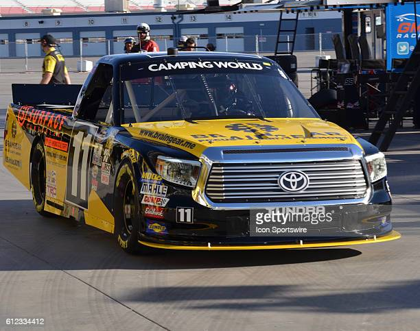 Matt Tifft Brain Gear/Surface Sunscreen Toyota Red Horse Racing heads to track during the NASCAR Camping World Truck Series DC Solar 350 at Las Vegas...