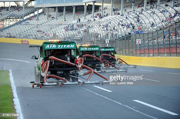 The Air Titans dry the track after a down pour hours before the Bank of America 500 at Charlotte Motor Speedway in ConcordNC