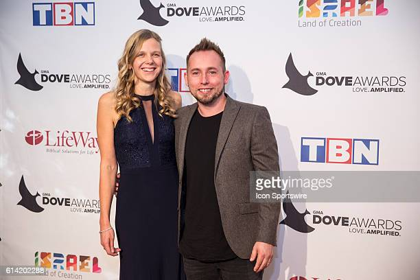 We Are Messengers Darren and Heidi Mulligan arrives at the Red Carpet at the 47th Annual Gospel Music Association Dove Awards at Allen Arena in...
