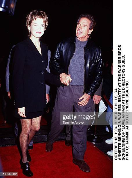 October 13 1994 Beverly Hills Ca Warren Beatty Annette Bening Attending The Screening Of 'Love Affair' At The Directors Guild