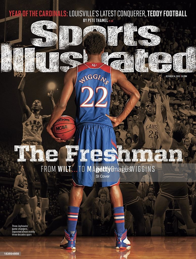 October 14, 2013 Sports Illustrated Cover: Rear view portrait of Kansas small forward Andrew Wiggins during photo shoot at Allen Fieldhouse. Al Tielemans F10 )