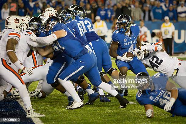 October 15 2015 Kentucky running back Mikel Horton runs the ball across the line scoring a touchdown during the last couple minutes of the NCAA...