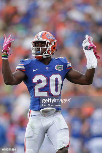 Florida Gators defensive back Marcus Maye during the NCAA football game between the Florida Gators and the Missouri Tigers at Ben Hill Griffin...