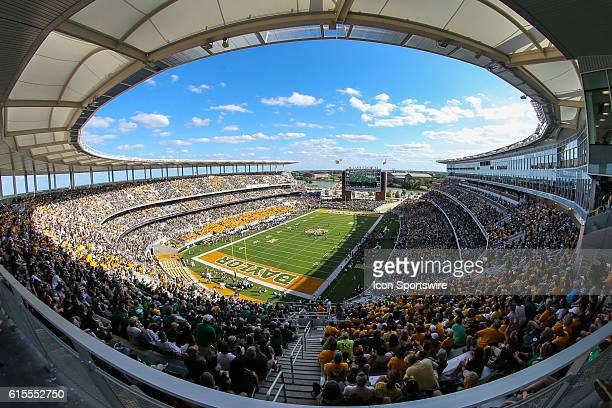 Full stadium during the game between Baylor University and Kansas at McLane Stadium in Waco TX