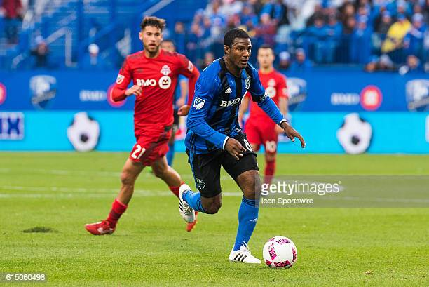 Montreal Impact Midfielder Patrice Bernier in control of the ball during the Toronto FC versus the Montreal Impact game at Stade Saputo in Montreal QC