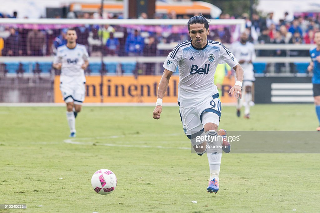 Vancouver Whitecaps player Masato Kudo (9) chases down a ball during the Major League Soccer game between the Vancouver Whitecaps and the San Jose Earthquakes at Avaya stadium in San Jose, CA.