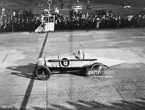 F C Clement driving a Bentley at Brooklands