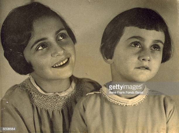 EXCLUSIVE Portrait of Margot Frank and her sister Anne Frank taken from the photo album of Anne Frank Aachen Germany
