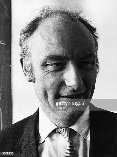 Headshot of Dr Francis Harry Compton Crick cowinner of the 1962 Nobel prize for medicine Crick shared the award with James Watson and Maurice Wilkins...