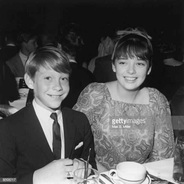 American actor Bill Mumy and British actor Angela Cartwright stars of the television show 'Lost In Space' attend the Spotlighters Teen Awards dinner