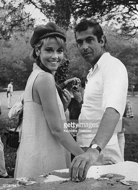 American actress Jane Fonda with her husband the French film director Roger Vadim