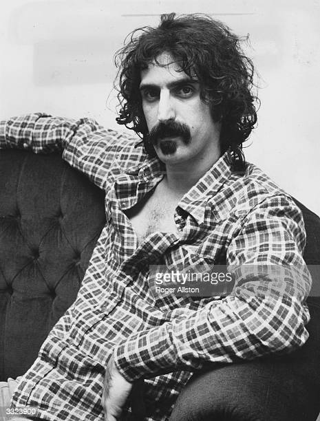 American rock musician Frank Zappa in his London hotel during a visit to England He is claiming discrimination by some London theatres against him...