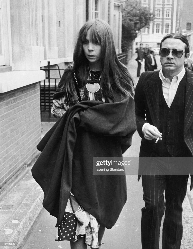 British photographer David Bailey and fashion model Penelope Tree arrive at west London Magistrates Court.