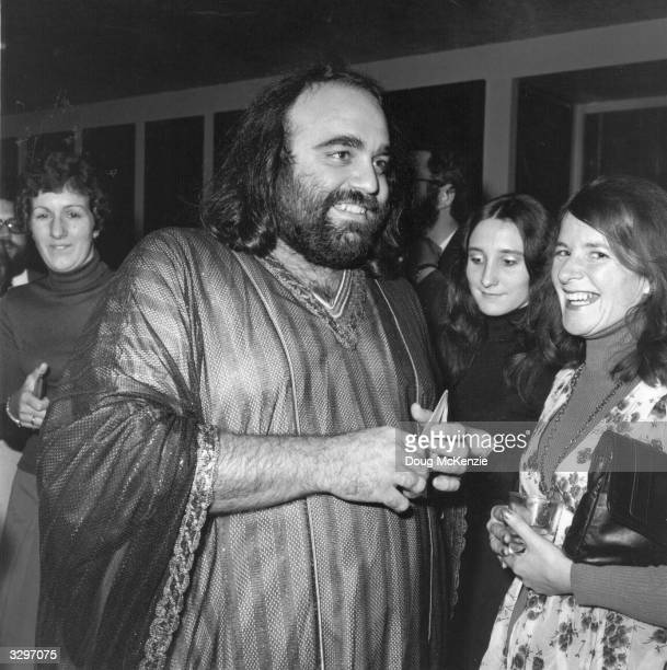 International singing star Demis Roussos greets some of his admirers