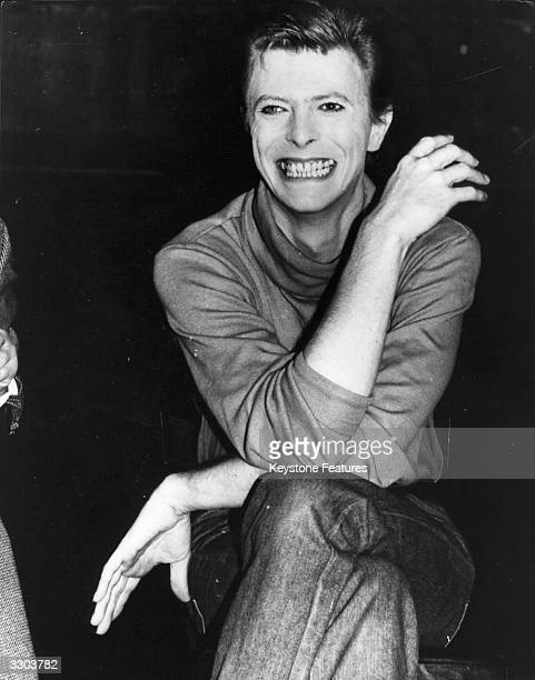 Rock singer David Bowie takes a break from his current project playing the title role in a broadway play based on the life of John Merrick the...