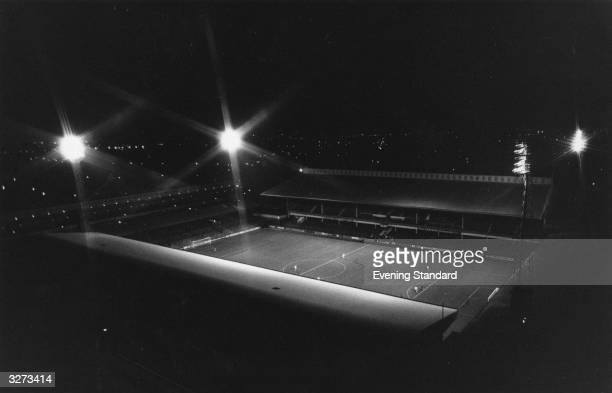 West Ham United's floodlit Upton Park football ground