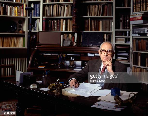 October 1985 the philosopher Claude LeviStrauss in his apartment in the 16th arrondissement of Paris on the occasion of the release of his book 'Look...