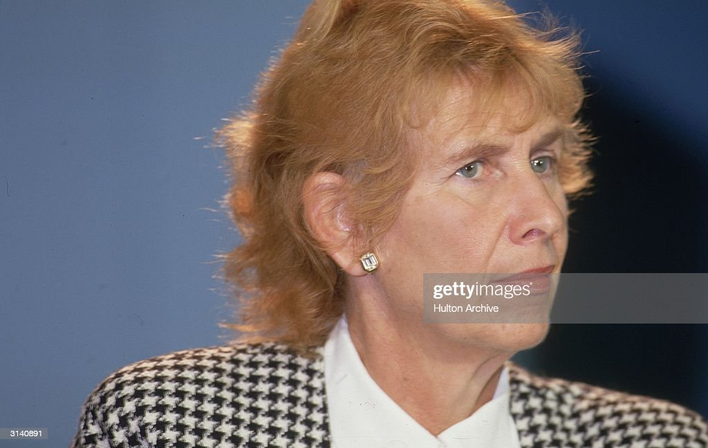 British MP Angela Rumbold at the Conservative Party Conference in Blackpool.