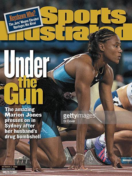 Track Field 2000 Summer Olympics USA Marion Jones at starting block before Women's 100M Finals at Olympic Stadium Sydney Australia 9/23/2000 CREDIT...