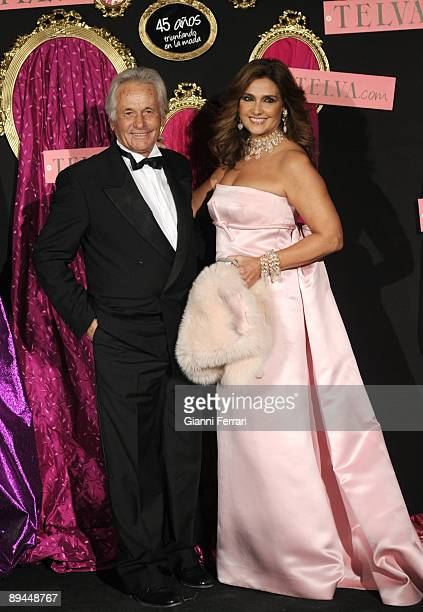 October 20 2008 Palace Hotel Madrid Spain Telva Fashion Magazine Prizes In the image the former bullfighter Sebastian Palomo Linares and his wife...