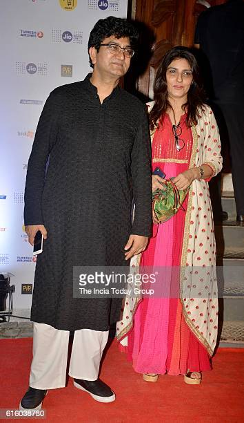Prasoon Joshi with his wife Aparna Joshi during the opening ceremony of Jio MAMI 18th Mumbai Film Festival at the Royal Opera House in Mumbai
