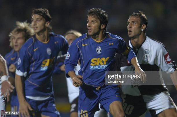 Alessandro Del Piero and Zlatan Ibrahimovic of Juventus FC look on during the italian Serie A 7 th round macht played between Siena and Juventus of...