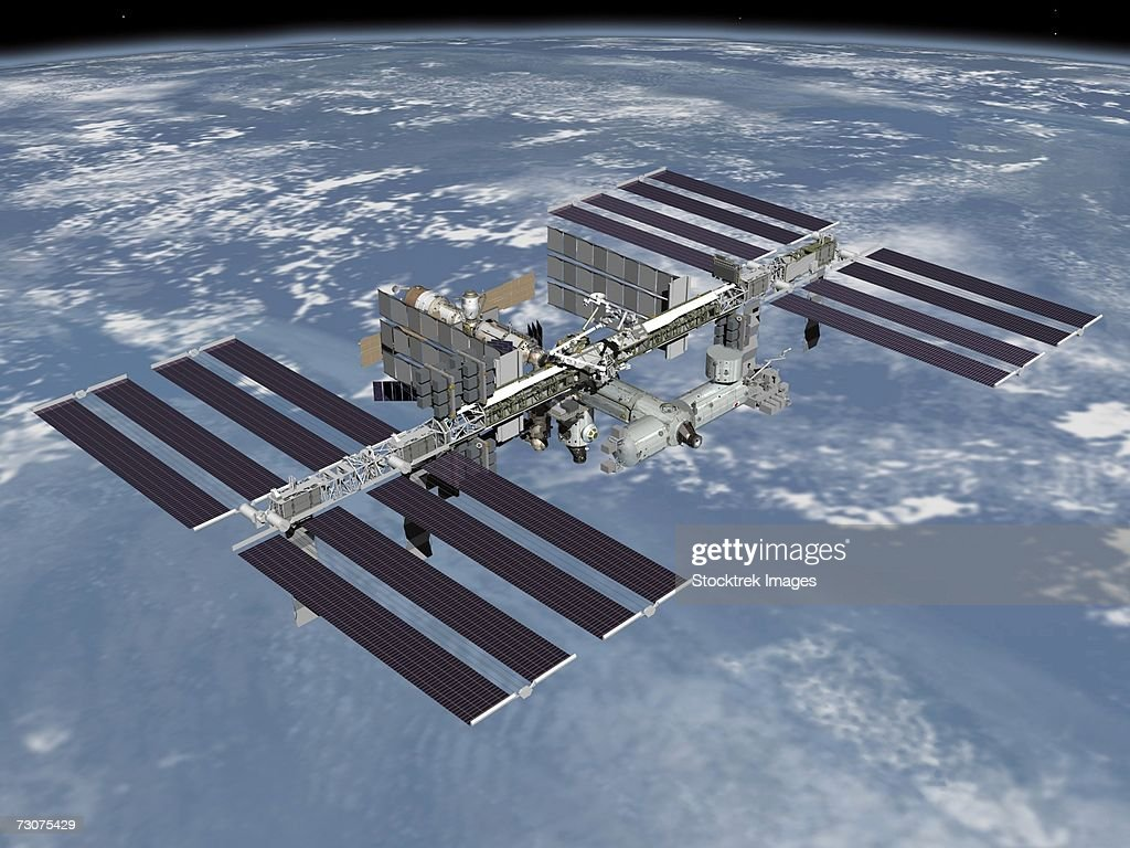 October 2006 - Computer generated artist's rendering of the completed International Space Station.