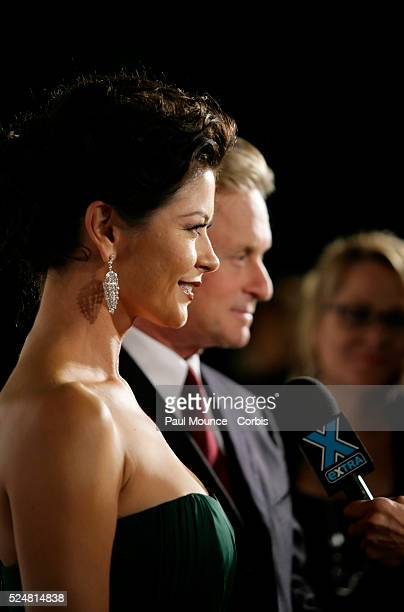 '20 October 2007 Culver City California USA Actors Catherine ZetaJones and Michael Douglas are interviewed at 'A Fine Romance' a starstudded evening...