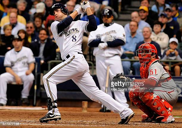 Milwaukee Brewers left fielder Ryan Braun batting during game 3 of the NDLS The Milwaukee Brewers survived elimination by defeating the Philadelphia...