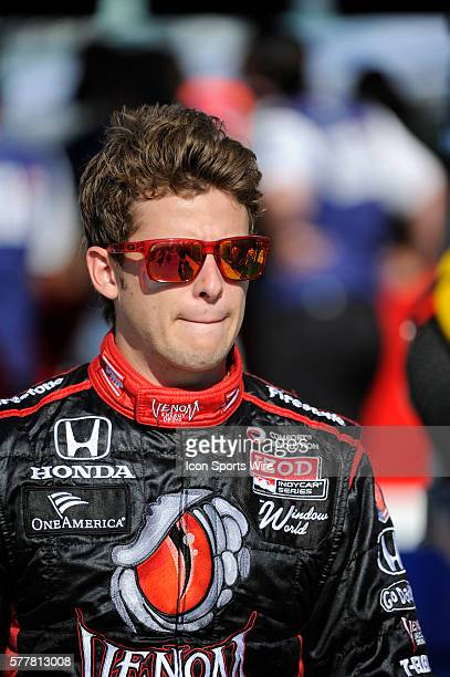 Marco Andretti on pit row during the qualifying for the Cafes do Brasil Indy 300 IZOD INDYCAR series race at the HomesteadMiami Speedway in Homestead...