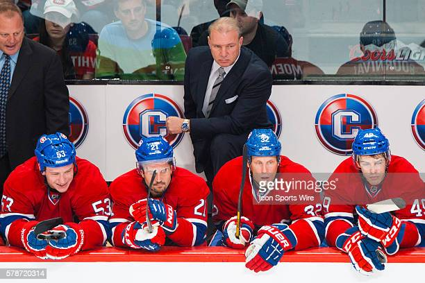 Canadiens head coach Michel Therrien watches the play during the NHL match against the Nashville Predators at the Bell Centre in Montreal Quebec...