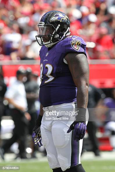 Baltimore Ravens defensive end DeAngelo Tyson during the NFL regular season game between the Baltimore Ravens and Tampa Bay Buccaneers at Raymond...