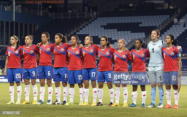 Costa Rica's starters From left Wendy Acosta Carolina Venegas Carol Sanchez Raquel Rodriguez Cedeno Cristin Granaldos Melissa Herrera Daniela Cruz...