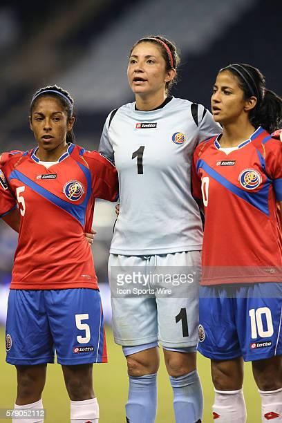 Dinnia Diaz with Diana Saenz and Shirley Cruz The Mexico Women's National Team played the Costa Rica Women's National Team at Sporting Park in Kansas...