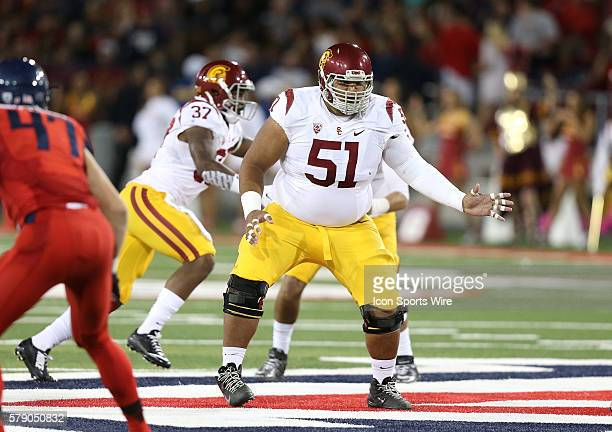 USC Trojans guard Damien Mama during the first half of the Pac12 college football game between the USC Trojans and the Arizona Wildcats at Arizona...