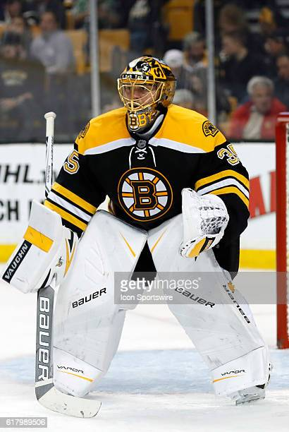 Boston Bruins goalie Anton Khudobin gets set for a face off The Montreal Canadiens defeated the Boston Bruins 42 in a regular season NHL game at TD...