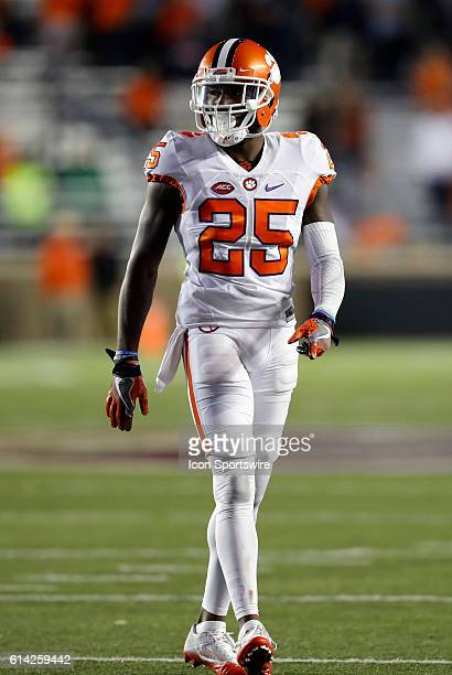 Clemson Tigers cornerback Cordrea Tankersley waits for a play The Clemson Tigers defeated the Boston College Eagles 5610 in an ACC NCAA Division 1...