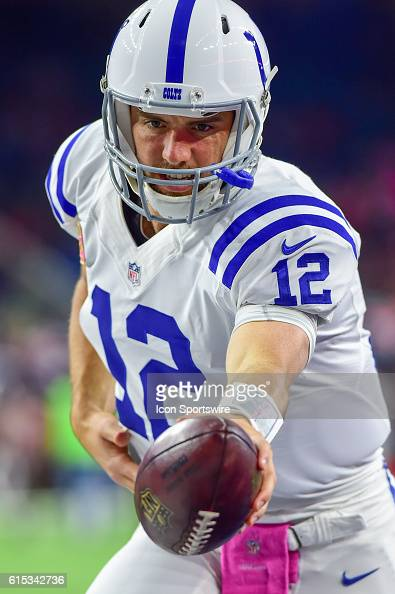 Indianapolis Colts Quarterback Andrew Luck before the NFL game between the Indianapolis Colts and Houston Texans at NRG Stadium Houston Texas