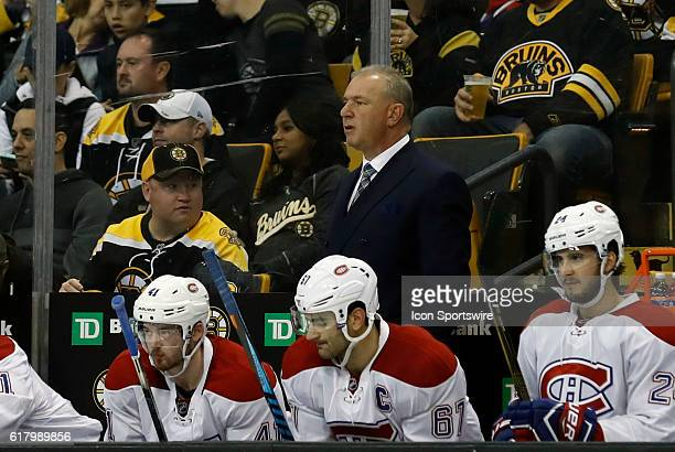 Montreal Canadiens head coach Michel Therrien questions a call from the bench The Montreal Canadiens defeated the Boston Bruins 42 in a regular...