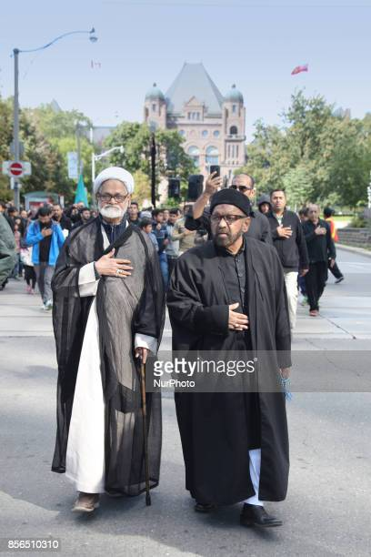 October 2016 Toronto Ontario Canada Pakistani Shiite Muslims take to the streets during the holy month of Muharram to commemorate the death of the...