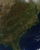 October 22, 2010 - Fall colors in the southeastern United States.