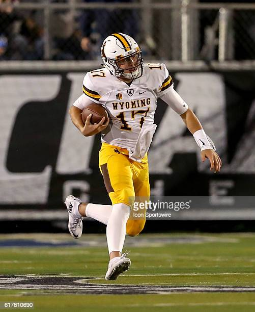 Wyoming Cowboys QB Josh Allen during the game between the Wyoming Cowboys and the Nevada Wolf Pack played at Mackay Stadium in Reno Nevada