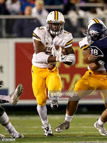 Wyoming Cowboys RB Brian Hill during the game between the Wyoming Cowboys and the Nevada Wolf Pack played at Mackay Stadium in Reno Nevada