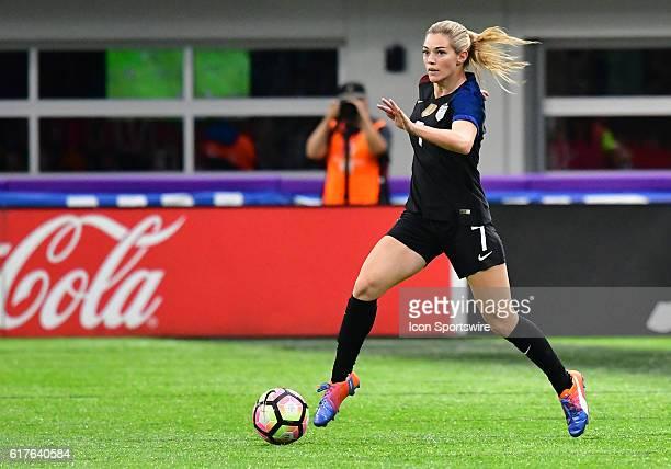 USA forward Kealia Ohai during a Women's International Friendly between USA and Switzerland at US Bank Stadium in Minneapolis MN